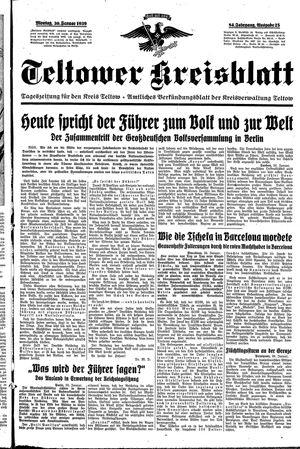 Teltower Kreisblatt vom 30.01.1939