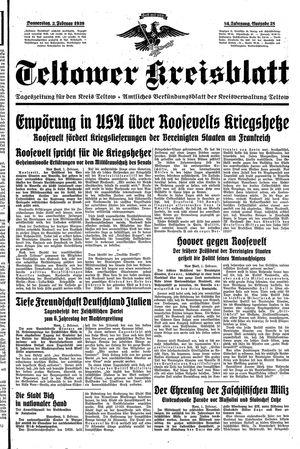 Teltower Kreisblatt vom 02.02.1939