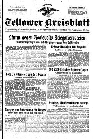 Teltower Kreisblatt on Feb 3, 1939