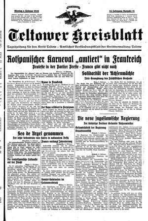 Teltower Kreisblatt vom 06.02.1939