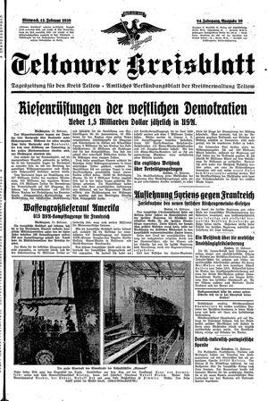 Teltower Kreisblatt vom 15.02.1939