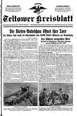 Teltower Kreisblatt vom 17.02.1939