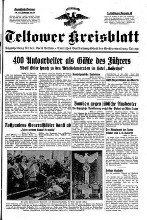 Teltower Kreisblatt vom 18.02.1939