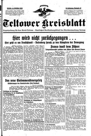 Teltower Kreisblatt on Feb 24, 1939