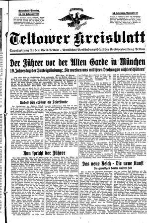 Teltower Kreisblatt vom 25.02.1939
