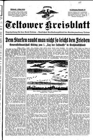 Teltower Kreisblatt vom 01.03.1939
