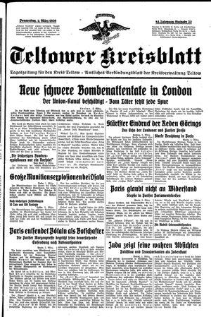 Teltower Kreisblatt vom 02.03.1939
