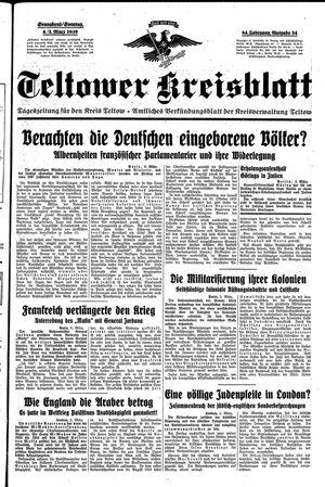 Teltower Kreisblatt vom 04.03.1939