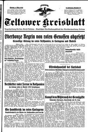 Teltower Kreisblatt vom 06.03.1939