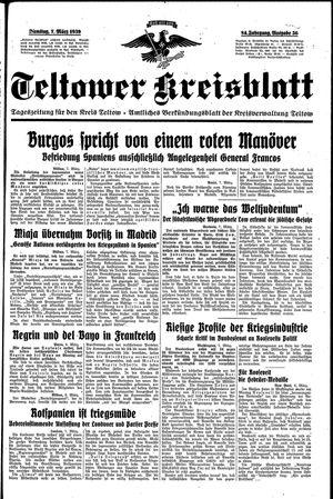 Teltower Kreisblatt on Mar 7, 1939