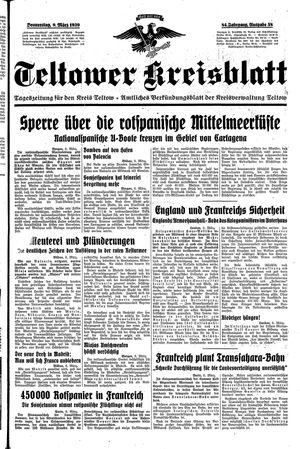 Teltower Kreisblatt vom 09.03.1939