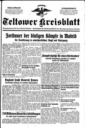Teltower Kreisblatt vom 10.03.1939