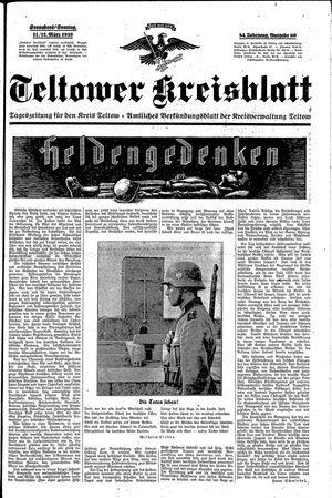 Teltower Kreisblatt vom 11.03.1939