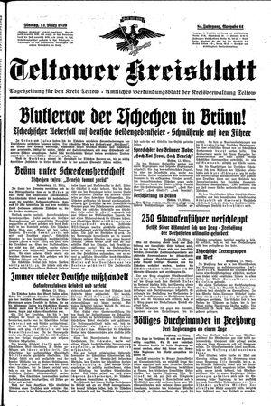 Teltower Kreisblatt on Mar 13, 1939