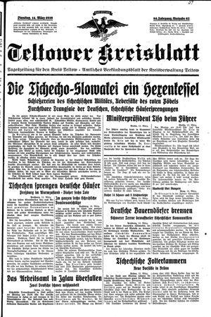 Teltower Kreisblatt vom 14.03.1939