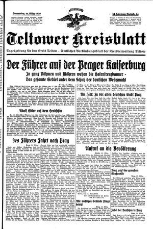 Teltower Kreisblatt vom 16.03.1939