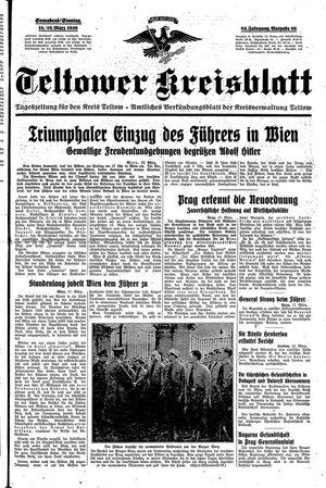 Teltower Kreisblatt vom 18.03.1939