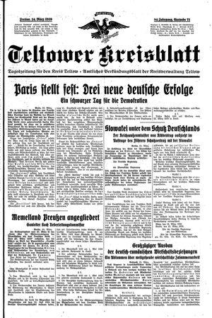 Teltower Kreisblatt vom 24.03.1939