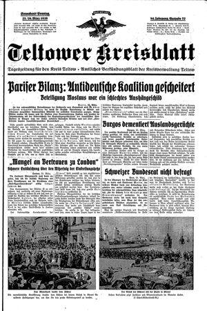 Teltower Kreisblatt on Mar 25, 1939