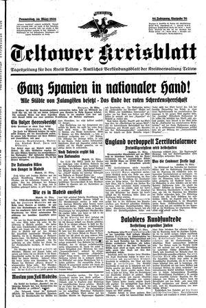 Teltower Kreisblatt vom 30.03.1939
