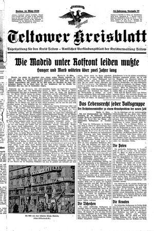Teltower Kreisblatt vom 31.03.1939