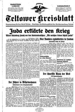 Teltower Kreisblatt vom 01.04.1939