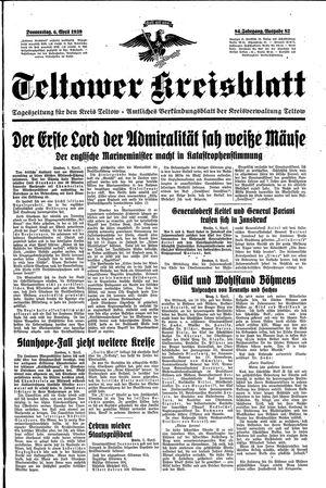 Teltower Kreisblatt vom 06.04.1939