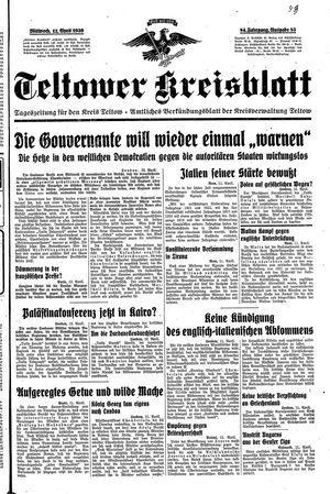 Teltower Kreisblatt on Apr 12, 1939