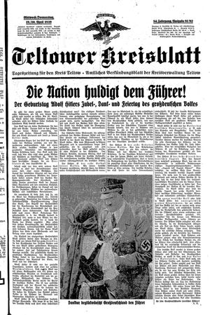 Teltower Kreisblatt on Apr 19, 1939