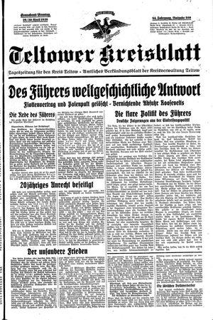 Teltower Kreisblatt vom 29.04.1939