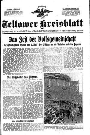 Teltower Kreisblatt vom 02.05.1939