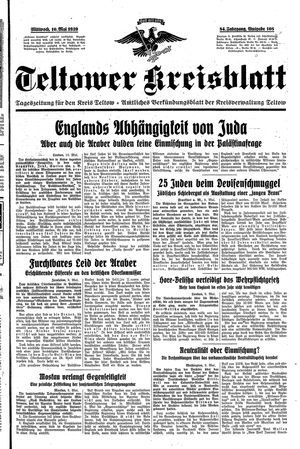 Teltower Kreisblatt vom 10.05.1939
