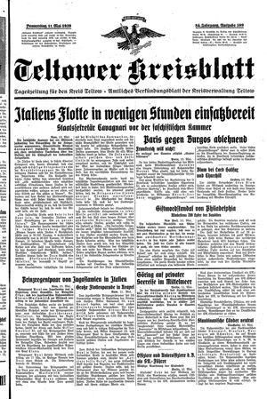 Teltower Kreisblatt vom 11.05.1939