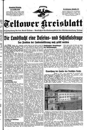 Teltower Kreisblatt vom 13.05.1939