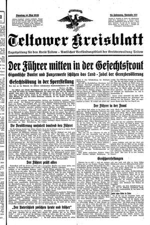 Teltower Kreisblatt vom 16.05.1939