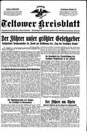 Teltower Kreisblatt vom 19.05.1939