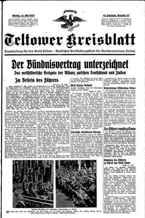 Teltower Kreisblatt vom 22.05.1939