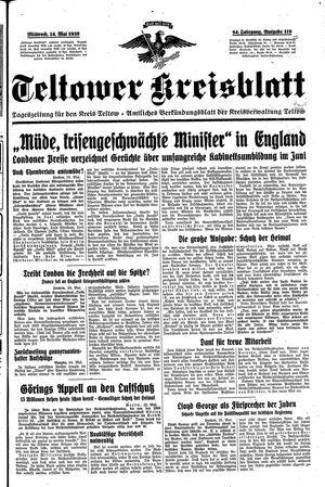 Teltower Kreisblatt on May 24, 1939
