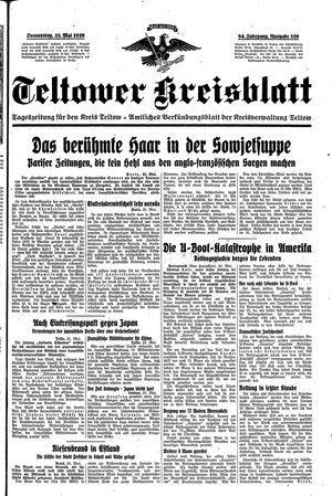 Teltower Kreisblatt vom 25.05.1939