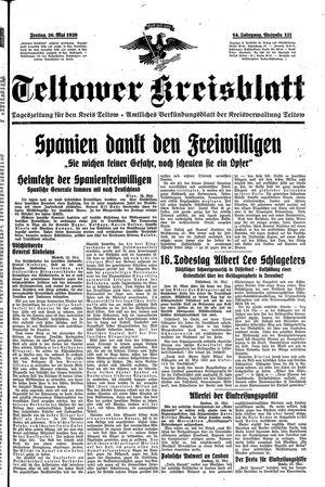 Teltower Kreisblatt vom 26.05.1939