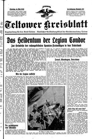 Teltower Kreisblatt vom 30.05.1939