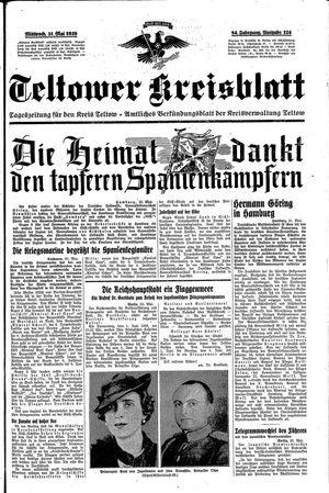 Teltower Kreisblatt vom 31.05.1939
