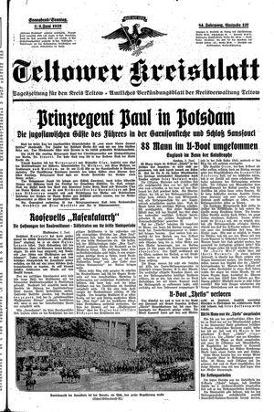 Teltower Kreisblatt vom 03.06.1939