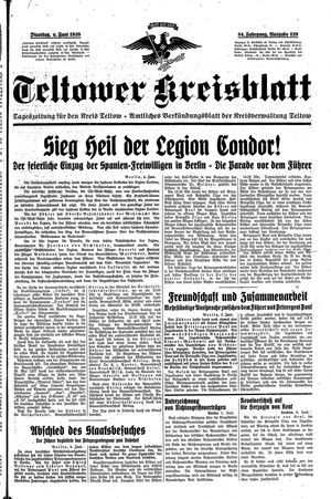 Teltower Kreisblatt vom 06.06.1939