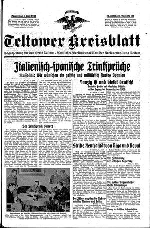 Teltower Kreisblatt vom 08.06.1939