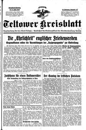 Teltower Kreisblatt vom 10.06.1939