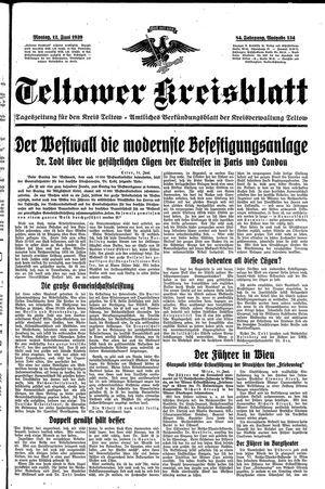 Teltower Kreisblatt vom 12.06.1939