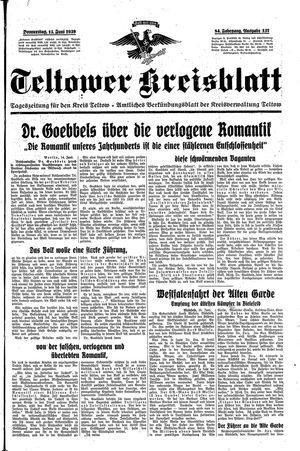 Teltower Kreisblatt vom 15.06.1939