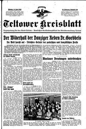 Teltower Kreisblatt vom 19.06.1939
