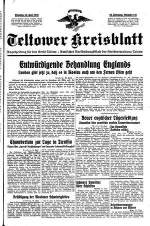 Teltower Kreisblatt vom 20.06.1939